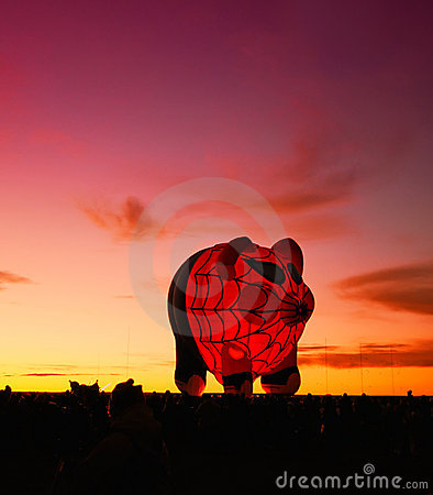 Spider pig glowing balloon Editorial Photography