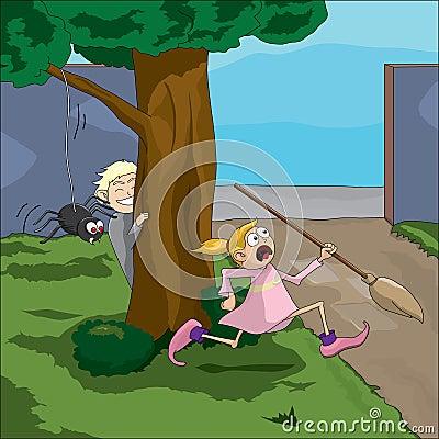 Free Spider Prank Royalty Free Stock Photo - 39616305