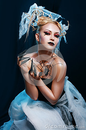 Free Spider Queen Costume Stock Photography - 34698502