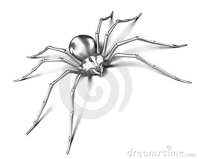 Spider - silver metallic. Black Widow