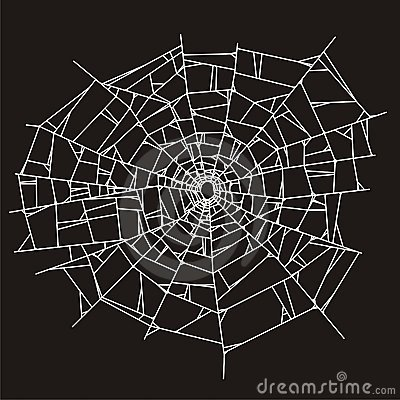 Spider Web Or Broken Glass Royalty Free Stock Images