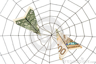 Spider Web and dollar