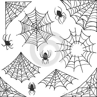 Free Spider Web Halloween Symbol. Cobweb Decoration Elements Collection. Halloween Cobweb Vector Frame And Borders With Stock Images - 124192304
