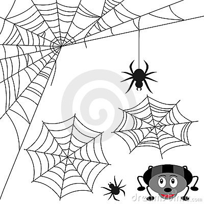 Free Spider Web Set Royalty Free Stock Photo - 21265105