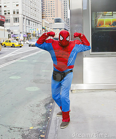 Spiderman in the City Editorial Stock Photo