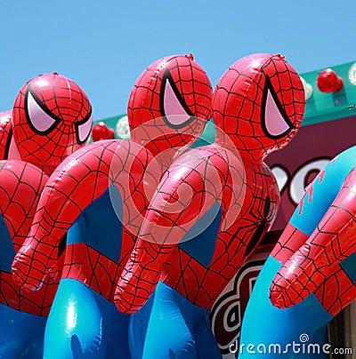 Spiderman dummies Editorial Photo