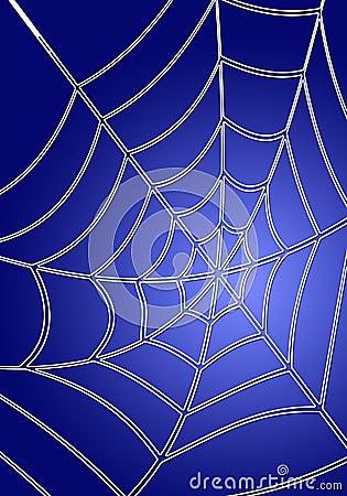 Spiderweb bleu