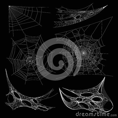 Free Spiderweb Or Spider Web Cobweb On Wall Corner Vector Isolated Icons Stock Images - 93542544