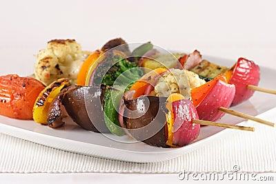 Spiedi organici vegetariani