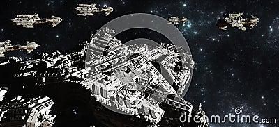 Spiegamento del parco di battaglia dello spazio