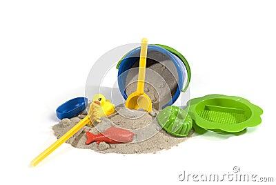 Spiel-stellen Sie für Sand ein