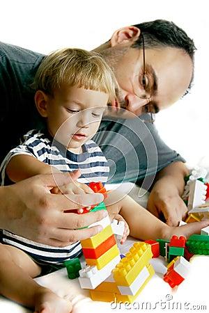 Spielen des Vaters und des Sohns