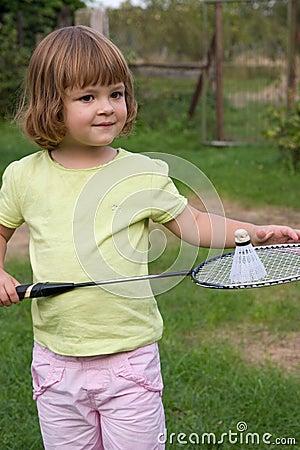 Spielen von Badminton