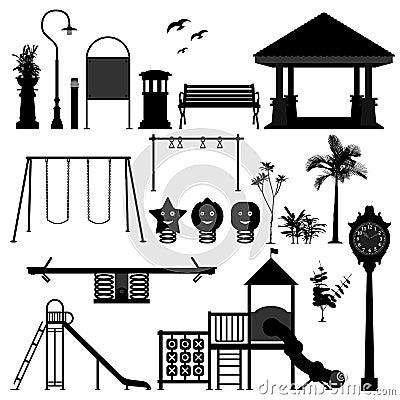 Spielplatz-Park-Garten-Ausrüstung