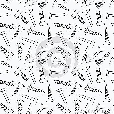 Spijkers en schroeven naadloos patroon