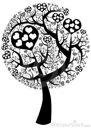 Free Spike Love Tree Silhouette Stock Photo - 23967480