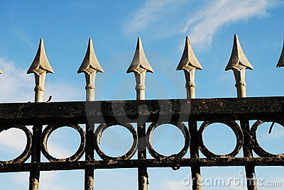 Spiked railings, Hastings
