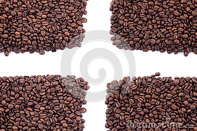 Spilled coffee beans