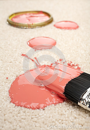 Spilled Paint on Carpet Insurance Claim Accident