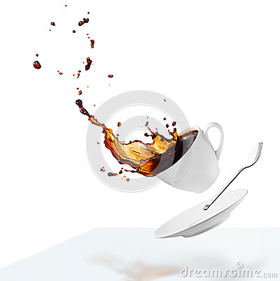 Spilling Coffee Stock Photo - Image: 38941865