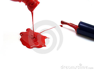 Spilling paint and brush