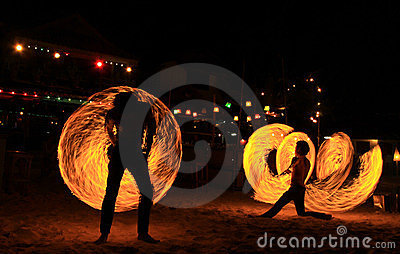 Spin fire action Editorial Stock Photo