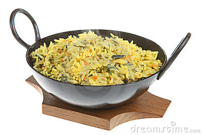 Spinach and Carrot Pilau Rice