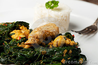 Spinach chicken dish