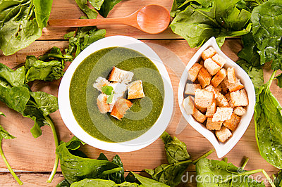Spinach creamy soup