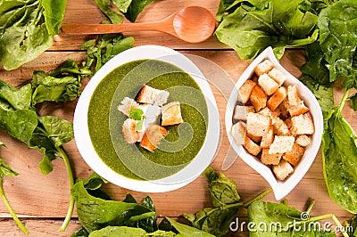 Spinach creamy soup