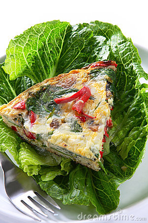 Free Spinach Frittata Royalty Free Stock Photo - 8086855