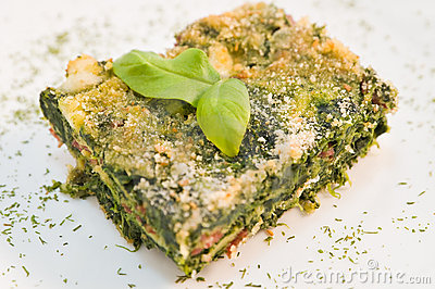 Spinach pie.