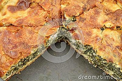 Spinach pie ( spanakopita )