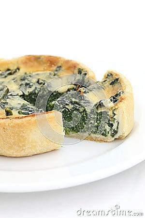 Spinach quiche pie