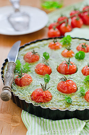 Spinach-Tomato guiche