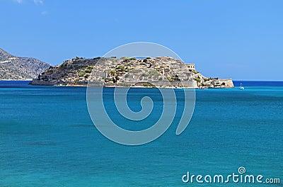 Spinalonga fortress at Crete island