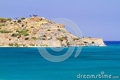 Spinalonga island on Mirabello Bay