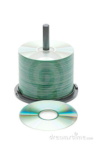 Spindle of cd disks isolated