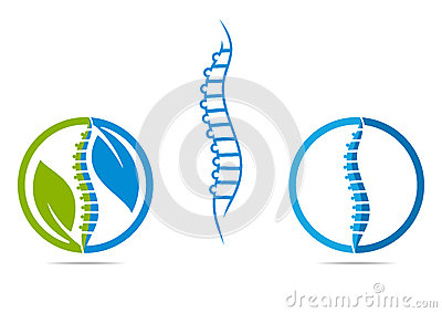 SPINE LOGO Vector Illustration