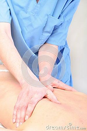 Spine massage close-up