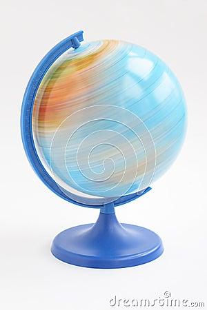 Spining globe