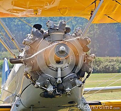 Spinning aircraft propeller