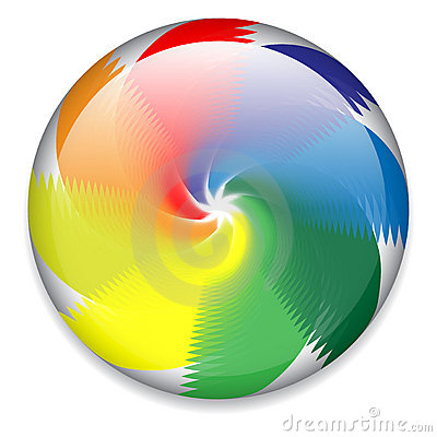 Spinning button