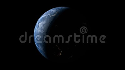 Spinning Earth Globe with Alpha Transparency Channel stock footage