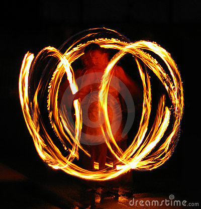 Free Spinning Fire Stock Photography - 1730882