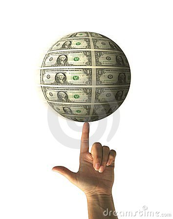 Free Spinning Money Sphere Royalty Free Stock Images - 1708459