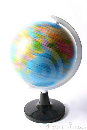 Spinning political globe / atlas