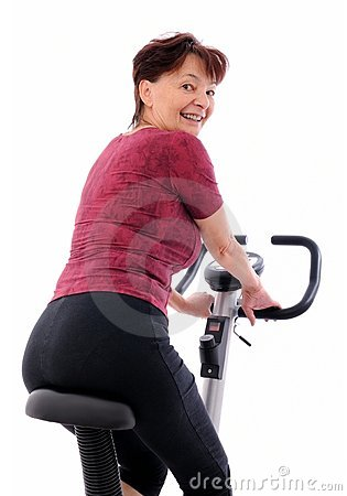 Spinning Senior Woman Royalty Free Stock Image - Image: 11541886
