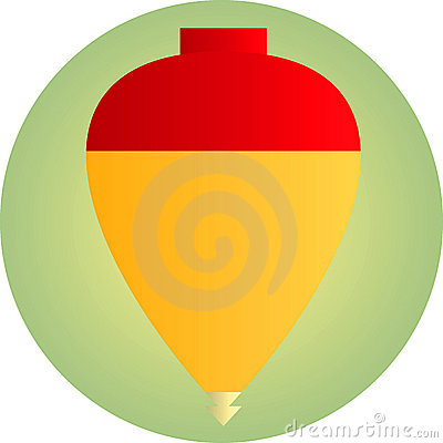 Spinning top toy illustration
