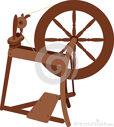 Spinning Wheel Stock Vector Image 58683279